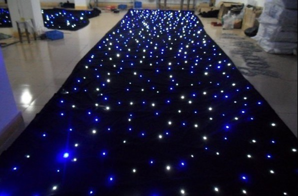 Mixed Color RGB 3x4M LED Star Curtain SMD High-bright Stage Background Cloth Fireproof Velour Led Star Cloth + Controller