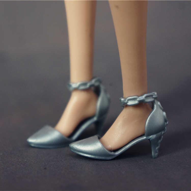 Moda Para zapatos de Barbie botas de alta calidad coloridas diferentes estilos sandalias de tacones altos ropa linda DIY accesorios de muñeca Barbie