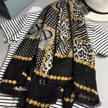 New Women Cashmere Scarf 55″ 140cm Kerchief Leopard Print Dot Pattern Fashion Style Shawl Keep Warm High Quality BY168245