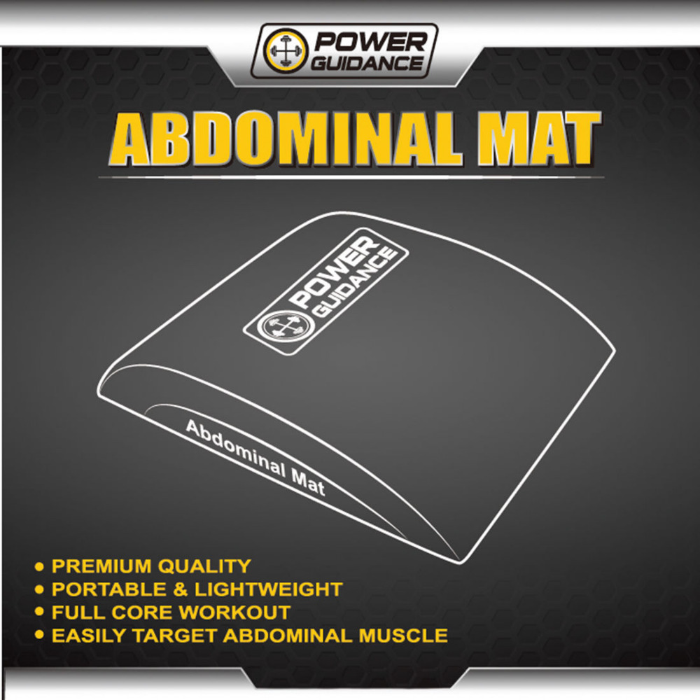 POWER GUIDANCE Ab Exercise Mat Sit Up Pad Abdominal /& Core Trainer Mat fo...