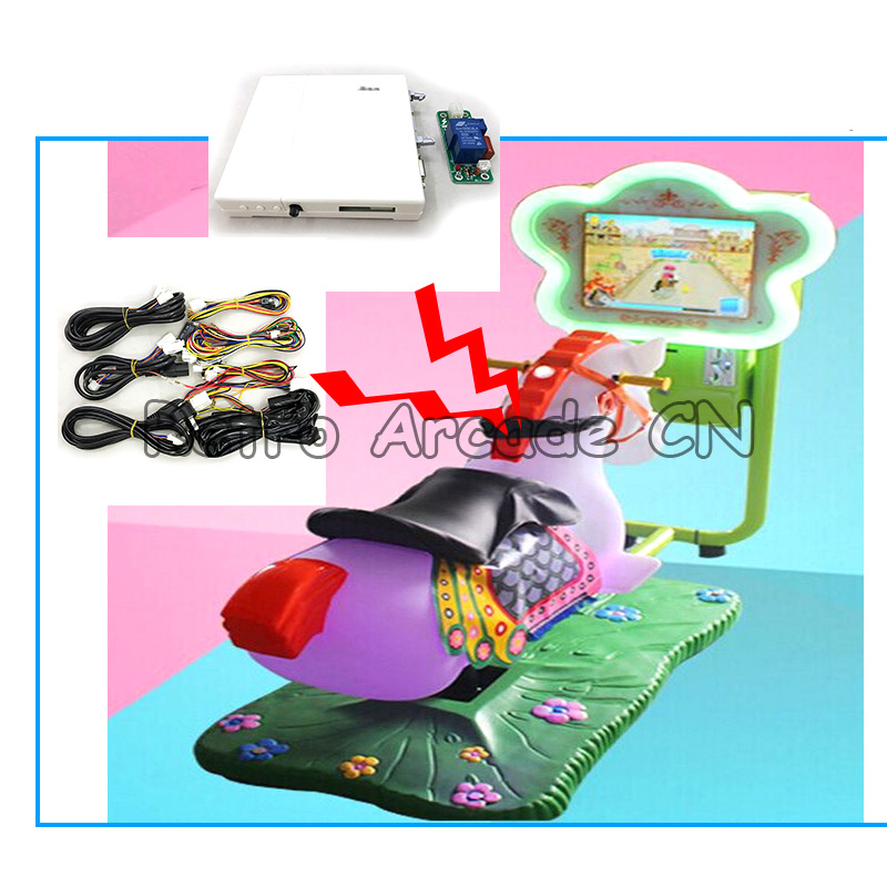DIY Kiddiy Ride Car Racing / Horse Racing Arcade Video game machine with Mainboard Kits motherboard with wires cable setDIY Kiddiy Ride Car Racing / Horse Racing Arcade Video game machine with Mainboard Kits motherboard with wires cable set