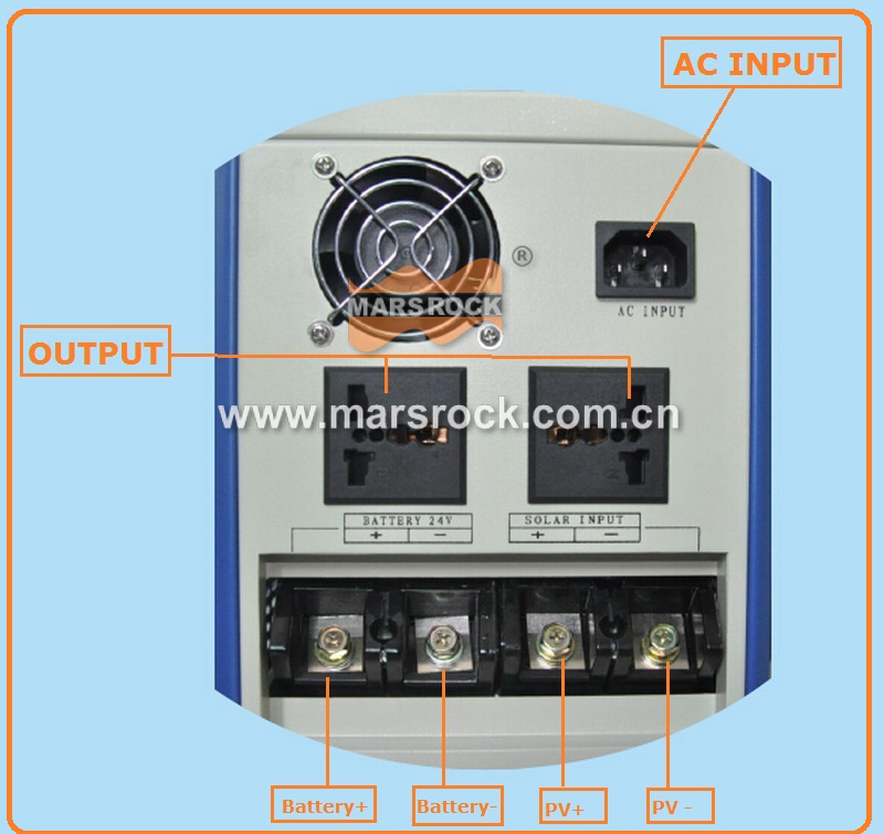 Power frequency pure sine wave 600W solar inverter DC12V to AC110V220V with charger, LCD, AC by Pass, AVR