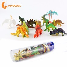 12pcs Mini Luminous Dinosaur Toy Jurassic Noctilucent Dinosa