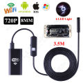 Free shipping!6LED HD 720P 3.5M WiFi Endoscope Waterproof Inspection Camera for ios and Android PC