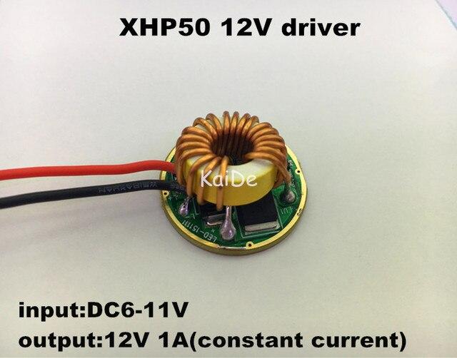2pcs cree XHP50 XHP70 12V driver 5mode dia26mm input6-11v output12V 1A constant current Led flashlight driver