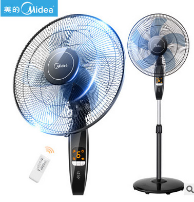 Floor Stand App Remote Control Electric Fan 6 Gear Speed Reservation Timed Cooling Fan LCD Display/Head Shaking 55W 220V цена 2017