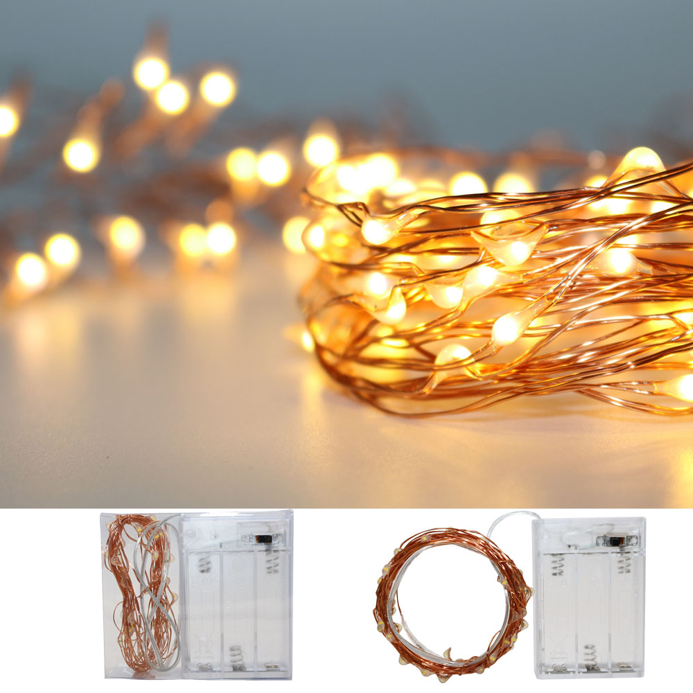 Tiny Christmas Lights.100x Led Tiny Micro Battery String Lights Copper Wire Bedroom Fairy