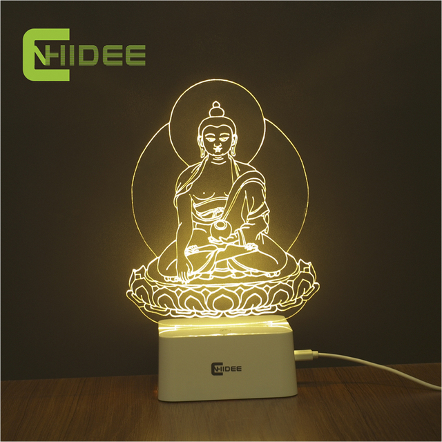 Cnhidee 5 color dimmable night light buddha statue sakyamuni 3d led cnhidee 5 color dimmable night light buddha statue sakyamuni 3d led lamp table lampara childrens bedroom aloadofball Images