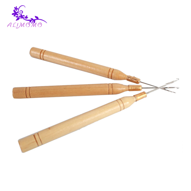 Aliexpress buy professional wood handle latch crochet hook aliexpress buy professional wood handle latch crochet hook hair weave needle wigs knitting styling tools 10pcslot crochet needles for hair from pmusecretfo Choice Image
