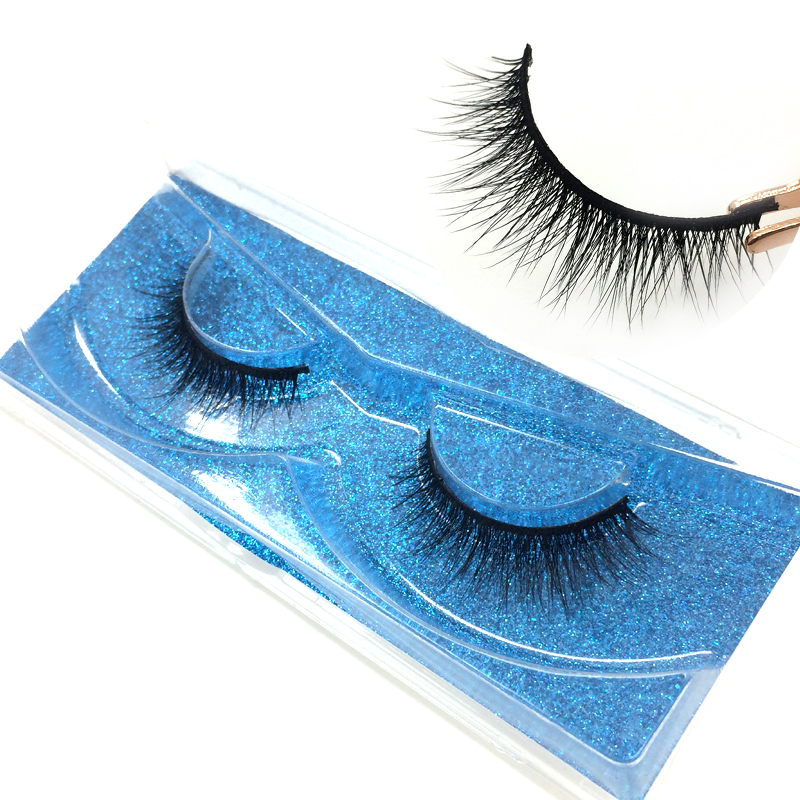 c07c9304d15 High quality 100% handmade silk faux eyelashes makeup 3D real mink lashes  free shipping image
