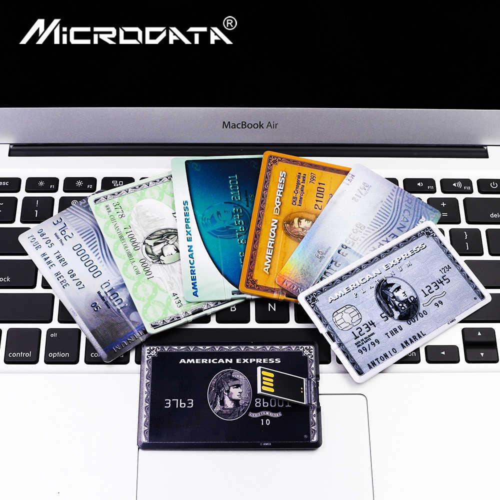 القدرة الحقيقية محرك فلاش usb الأمريكية بطاقة Express حملة القلم 64GB 128GB 4GB 8GB 16GB 32GB بندريف البنك بطاقة رقاقة ذاكرة usb