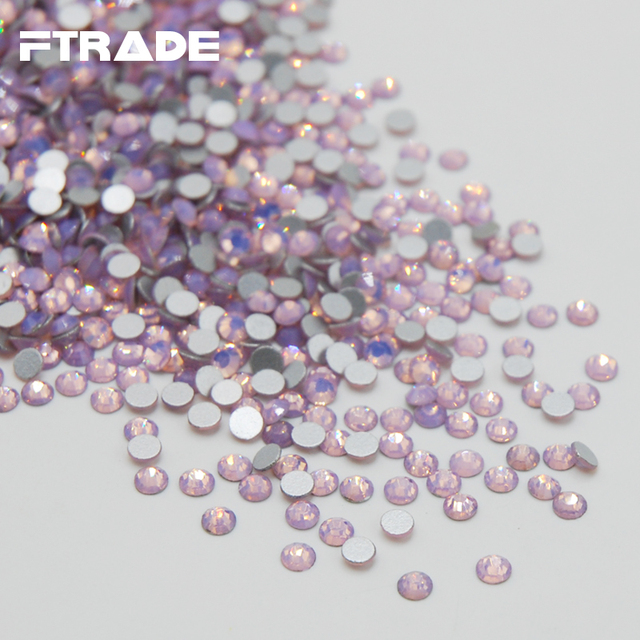e3d40e5017 US $7.56 10% OFF|Aliexpress.com : Buy Promotions!New Hot Sale Crystal Pink  Opal Color Glass Non Hotfix Rhinestones Flat Back Nail Art Glue On Crystal  ...