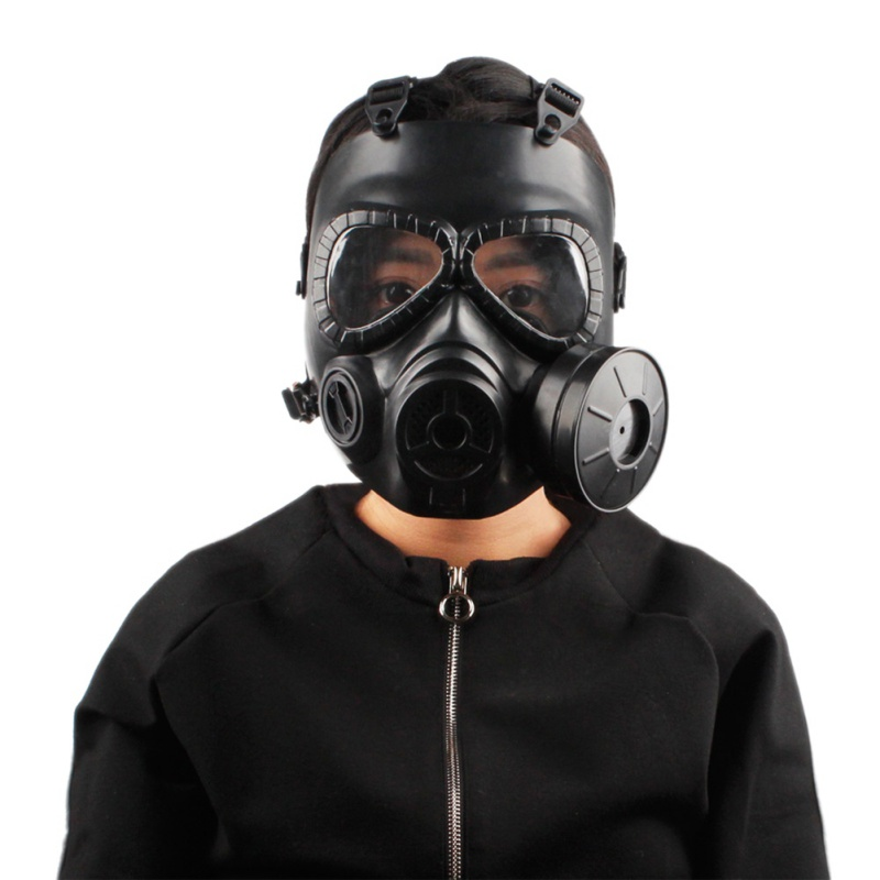 USA Shipping Single Fan M04 Double Gas Mask CS Filter Tactical Military Army Transpiration Facial Mask Guard Shooting Accessorie