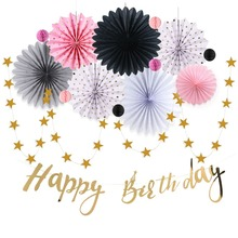 15 Pcs/set Party Decorations Paper Honeycomb Balls Fans Birthday Theme Supplies Romantic New Decor
