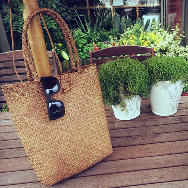 2016 Summer Design Women Handbags Straw Women Messenger Bags Beach Bag Large Capacity Tote Bag Free Shipping DL0121 XA1027B
