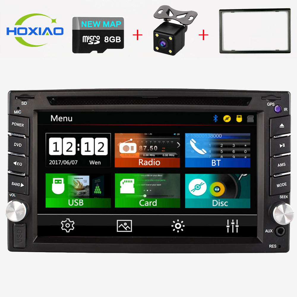 Car DVD GPS Player 2 Din car Video Players Auto Radio Navigation Free Maps OF sd