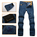Billionaire italian couture men's jeans 2016 new fashion commercial embroidery Englan Dark blue thick high quality free shipping
