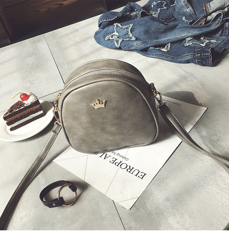 Mara's Dream 2019 Fashion Women Handbag Messenger Bags PU Leather Shoulder Bag Lady Crossbody Mini Bag Female Crown Evening Bags 4
