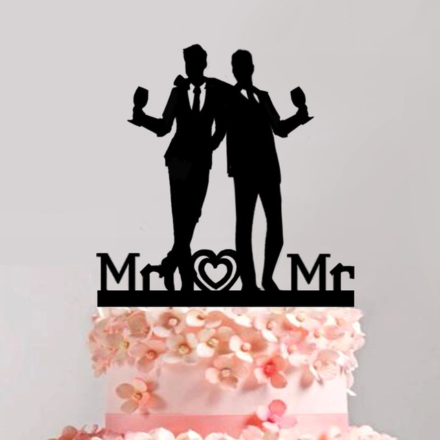 Silhouette Wedding Cake Topper Wine Cup Love Story Cool Wedding