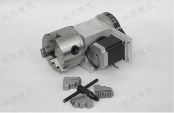 Máquina de grabado máquina de cuarto eje de un eje giratorio CNC dividiendo  la K11 100mm tres jaw chuck para cnc router 1 piezas