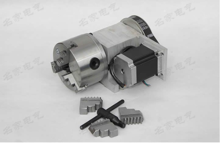engraving machine fourth axis A shaft rotating shaft CNC dividing head K11 100mm three jaw chuck for cnc router 1pcs cnc 5 axis a aixs rotary axis three jaw chuck type for cnc router
