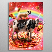 5D Diy Diamond Painting Pug Riding Cow Unicorn Embroidery Full Mosaic Animals Rhinestones Home Decor Craft Kits