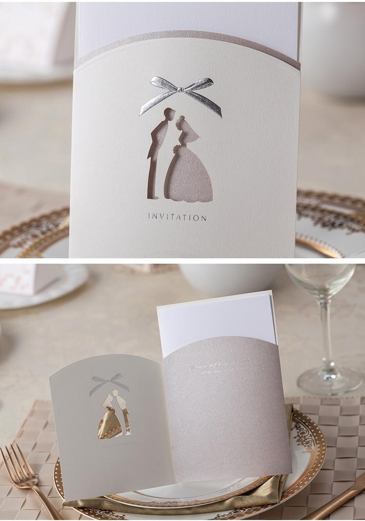 Romantic simple silkprint wedding invitations blank page card high romantic simple silkprint wedding invitations blank page card high quality paper jam korean wedding supplies in cards invitations from home garden on stopboris Images