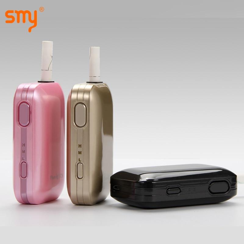 Original SMY Pluscig B2S 2900mAh battery Heating Box Kit Heat Stick Vaporizer for tobacco cartridge VS