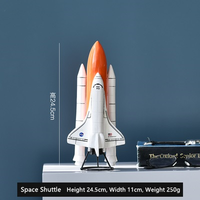 Ceramics Space Shuttle SpaceShip Ornaments Figurine Home Decor Accessories