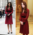 Summer Dress 2015 Kate Middleton Dresses Elegant Vintage Slim Casual tight Dress Women Round Neck Applique Fashion Vestido