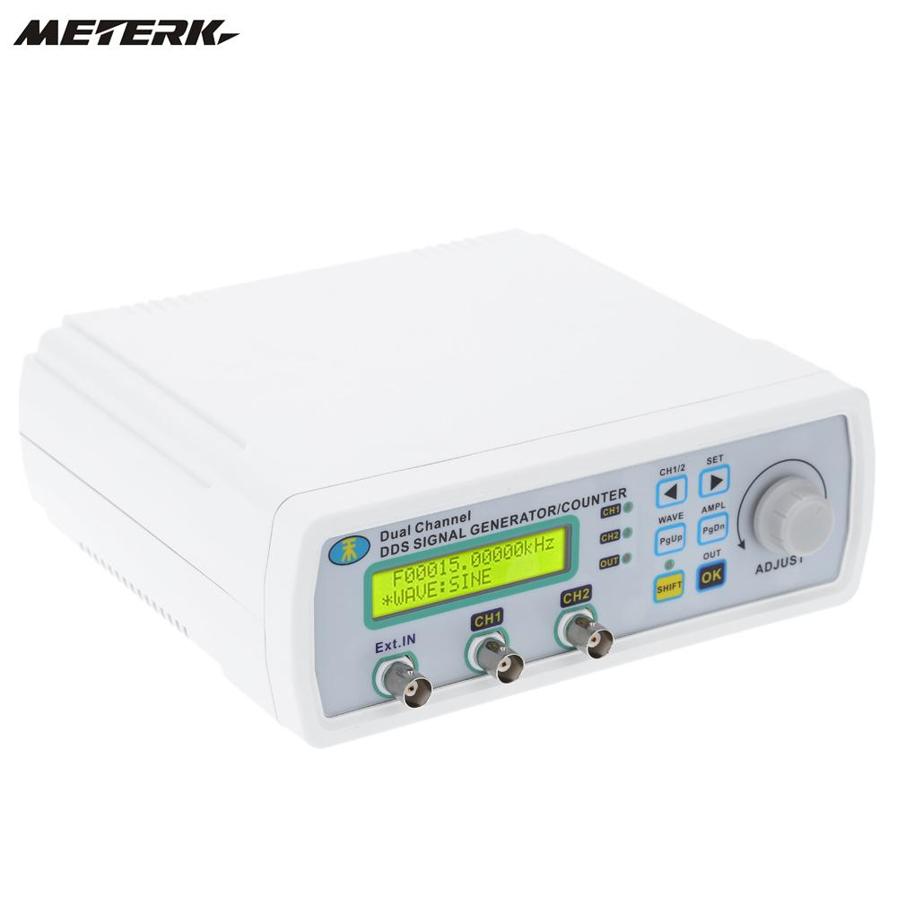 12MHz Signal Source Generator Arbitrary Waveform Frequency Meter Digital DDS Dual-channel 200MSa/s free shipping mhs 3200a 12mhz dds nc dual channel function signal generator dds signal source 4 kinds of waveform output