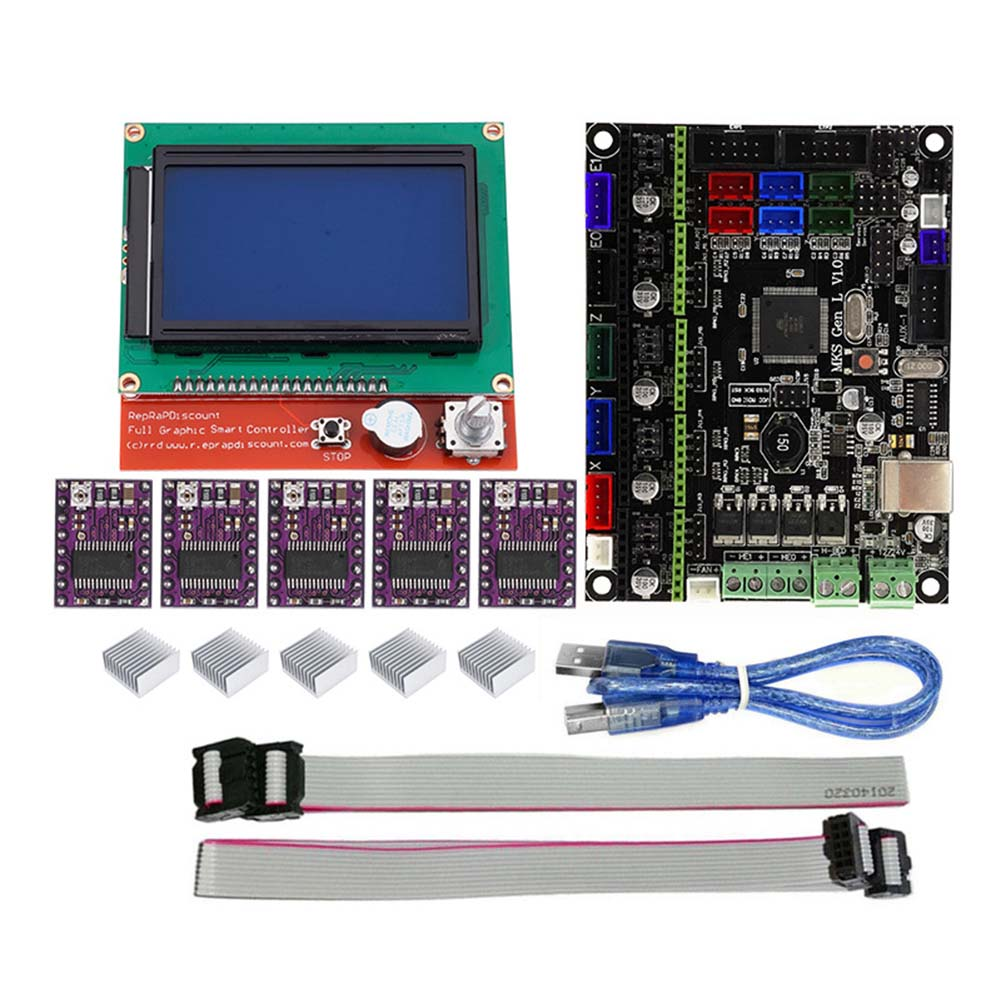 Pour MKS GEN L Compatible avec 12864 LCD Support D'affichage DRV8825 Moteur Pilote 3D Kits D'impression SL @ 88
