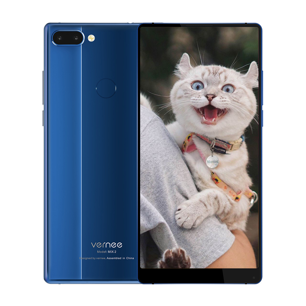 Vernee Mix 2 4g Smartphone 6.0 pouce Android 7.0 MTK6757CD Octa Core 4 gb RAM 64 gb ROM 13.0MP + 5.0MP Double Arrière Caméras D'empreintes Digitales