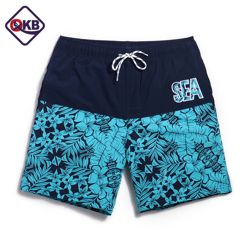 QIKERBONG New mens beach   board     shorts   quick dry fashion leisure casual active   shorts   sea   board   boardshorts big size XXXL