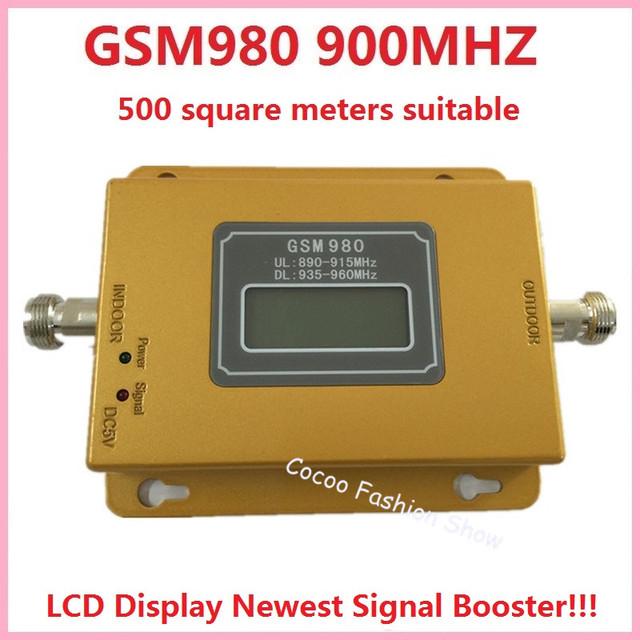Mais novo GSM 980 LCD Repetidor! 500 metros quadrados GSM 900 MHZ Reforço de Sinal de Celular GSM Sinal Móvel Impulsionador repetidor Amplificador kit