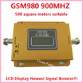 Newest GSM 980 LCD Repeater! 500square meters GSM 900MHZ Signal Booster GSM Celular Mobile Signal Booster Amplifier repeater kit