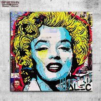 Marilyn Monroe Alec Monopoly Graffiti Art Print Canvas For Wall Art Decoration Oil Painting Wall Painting