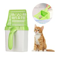 Litter For Cat Scoop Toilet Pet Processor Plastic Hollow Spoon Cleanning Tool For Pet Dog Cat Litter Excavator