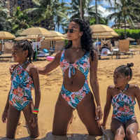 Mother Daughter Matching Swimsuits Mommy And Me Bikini Clothes Family Look Mom Daughter Bathing Suit Family Matching Swimwear