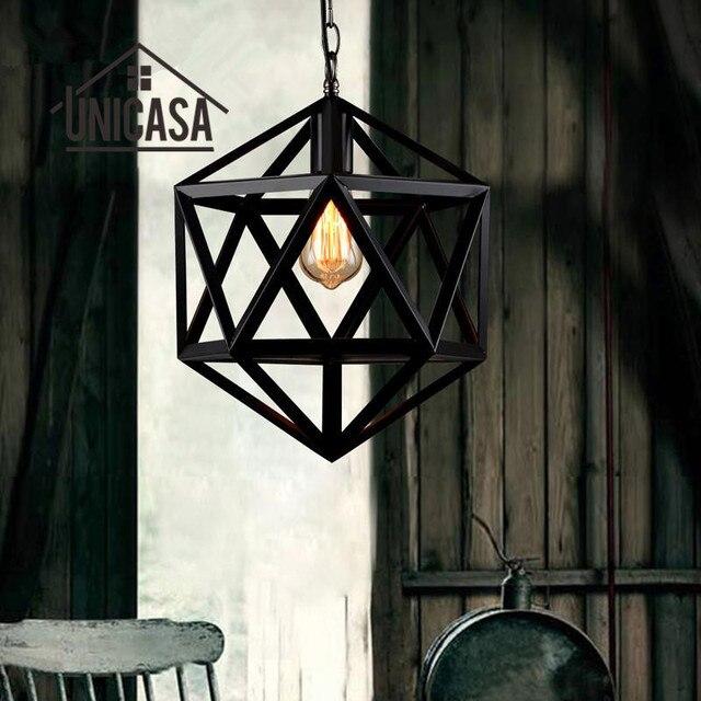 Antiguo Lámparas colgantes hierro forjado Iluminación Industrial ...