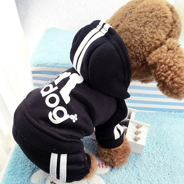 Winter Warm Pet Dog Clothes Four-legs Sports Hoodies For Small Dogs Chihuahua Pug French Bulldog Clothing Puppy Dog Coat Jacket 3