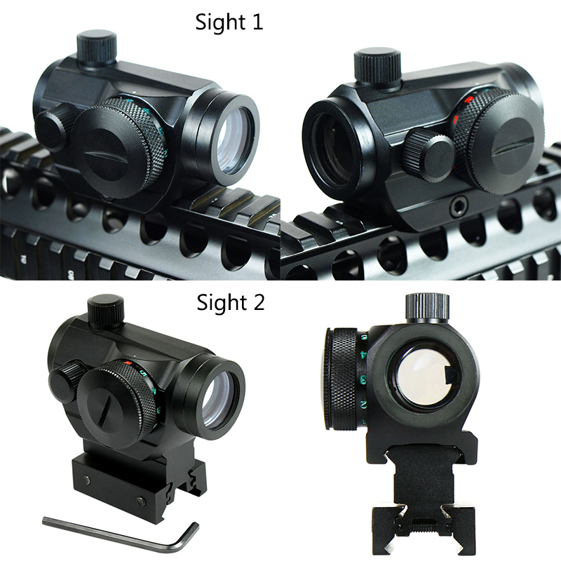 20mm Rail Aim Scope Hunting Riflescopes Airsoft Red Dot Sight Optical Sight Scope Tactical Reflex W/Dual Profile Chasse Caza