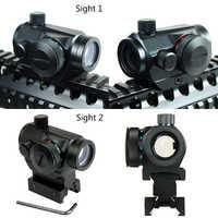 20mm riel Aim alcance caza Riflescopes Airsoft punto rojo vista óptica alcance táctico Reflex w/doble perfil chasse Caza