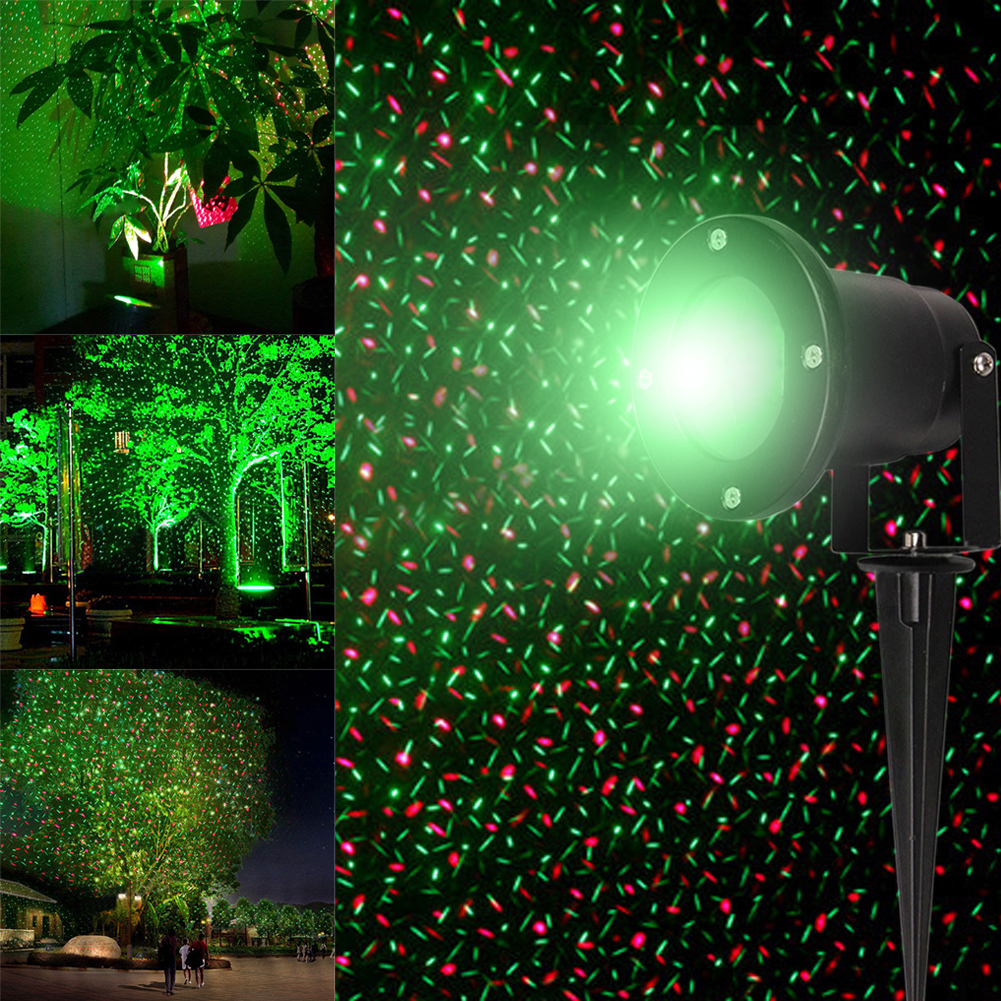 Waterproof Moving Laser Projector Lamps LED Stage Light For Outdoor Christmas Party Light Garden Lamp