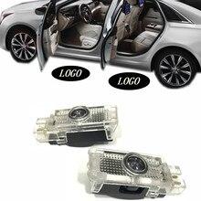 цена на JURUS LED Car Logo Door Light Courtesy Laser Projector Lamp Welcome Light For Mercedes W203 C Class 2001-2007 SLK CLK SLR W209