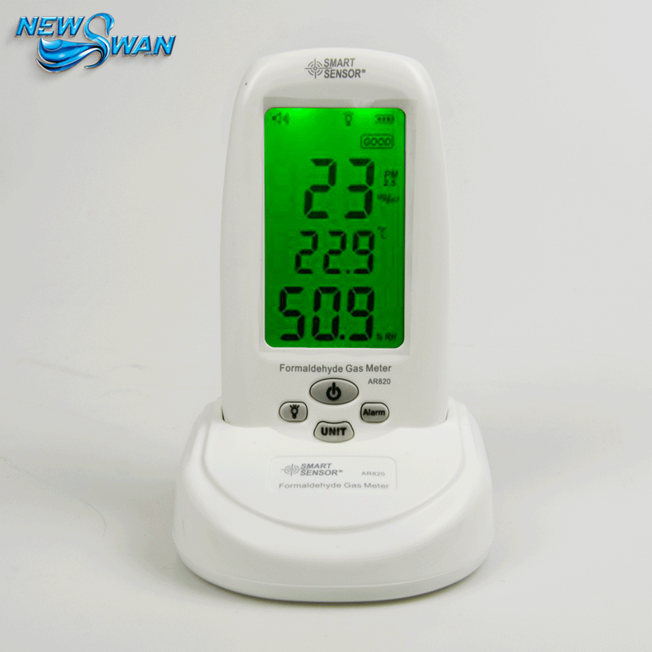 Digital PM2.5 Formaldehyde Detector Air Monitor Formaldemeter Home Air Detector Meter Thermometer Hygrometer Measurement digital indoor air quality carbon dioxide meter temperature rh humidity twa stel display 99 points made in taiwan co2 monitor