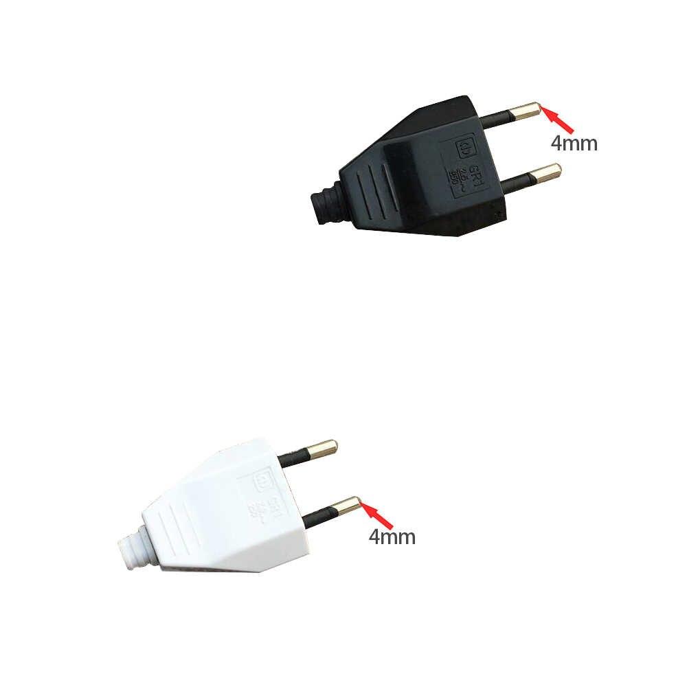 4.0mm ab erkek kadın Butt VDE güç fişli kablo güç soketi avrupa ab tak işık fikstürü 2 çekirdekli bağlantı fiş