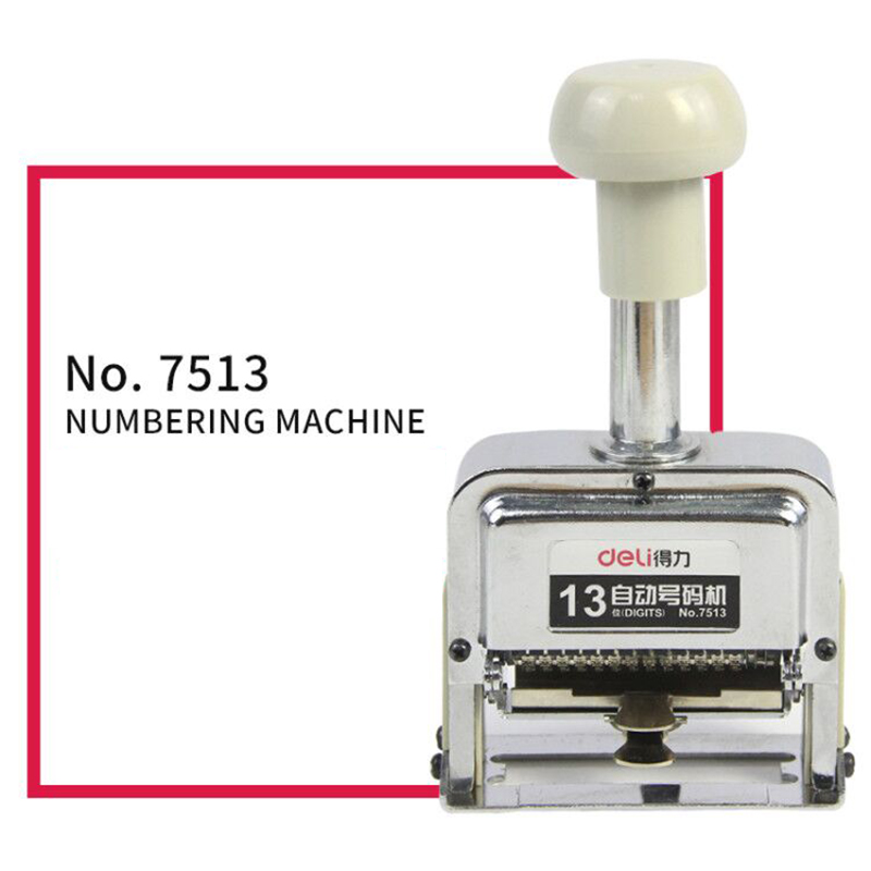 Deli Automatic Number Machine 13 position numbering machine into the number coding Page Chapter marking machine digital stamp 9 position automatic numbering machine into the number coding page chapter marking machine digital stamp burea despachou office