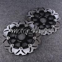 Black Front Brake Discs for KAWASAKI ZXR 400 750 ZX9R ZRX 1100 1200 ZZR 1100