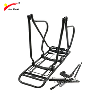 Bike Rack Rear Quick Release Luggage Carrier Bicycle Rack Pannier Bicycle Accessories Silver Black Rack Stand Adjustable Holder